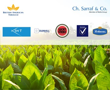 CH. SARRAF & CO. OPENS TOBACCO UNIT TO TRADE-MARKET BAT PRODUCTS